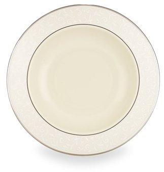Lenox Pearl Innocence Platinum Banded Ivory China Pasta BowlRim Soup