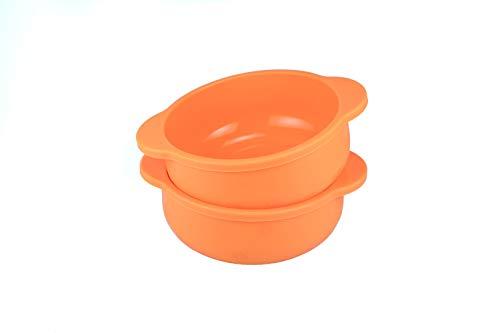 Honey Bear Kitchen Silicone Snack Bowls Set of 2 Orange Sherbet