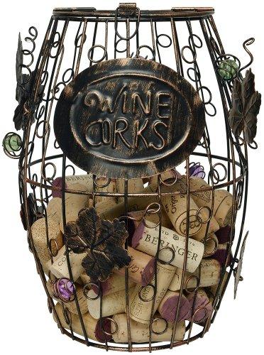 Home-X Wine Barrel Cork Holder Wine Cork Holder