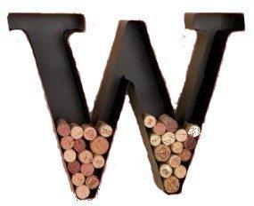 Metal Monogram Wine Cork Holders-W