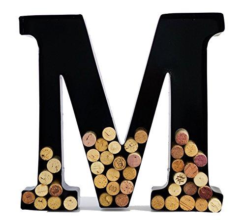 Wine Cork Holder - Metal Monogram Letter M