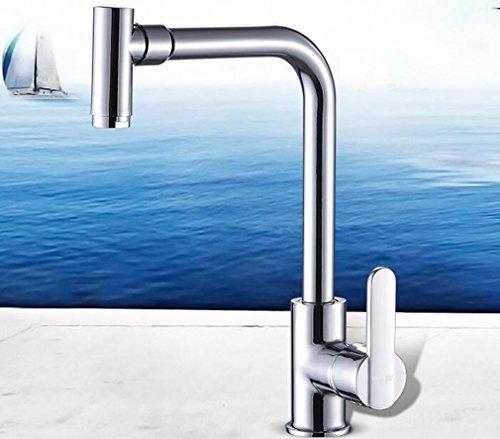 Heruai Multifunction Kitchen Sink Taps Stainless Steel Swivel Spout Single Tap Multi Angle Rotation Head