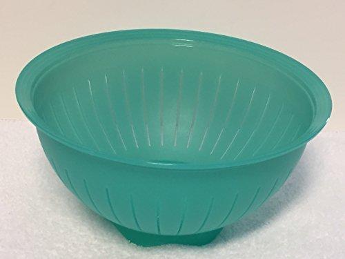 New Tupperware Impressions 3 Qt Colander Strainer Bowl Sea Green