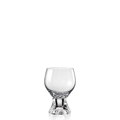 Crystalex Gina Wine Glasses, Brandy & Whisky Snifters, Short Stem, 8-ounce, Set Of 6