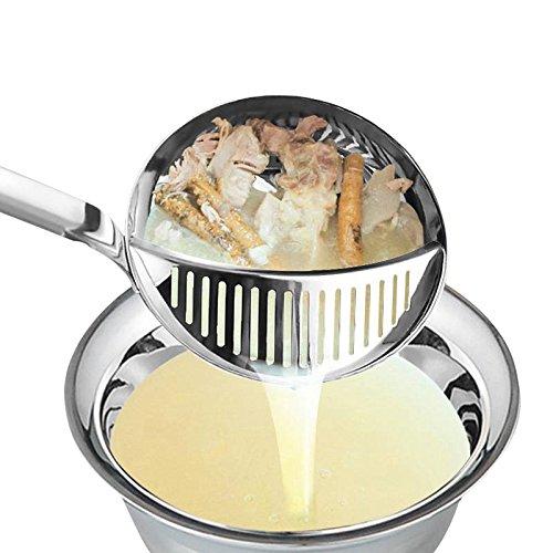 Hot Pot Soup Spoon Colander Stainless Steel Kitchen Utensils Long-handled Skimmer Fine Mesh Strainer