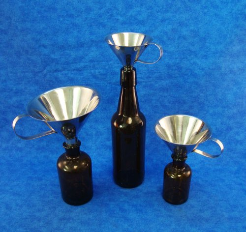 Stainless Steel Funnel Set 3 4 and 5 Inch