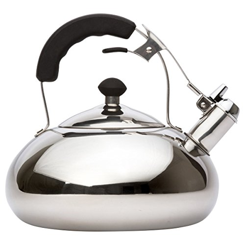 Vanika Stainless Steel Whistling Tea Kettle 32 Quart