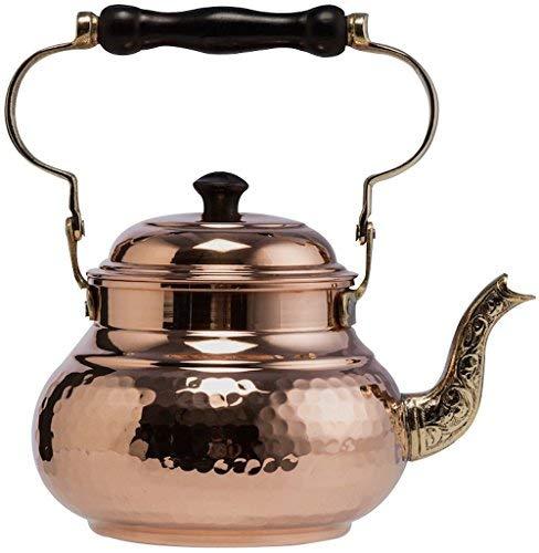 DEMMEX 2017 Hammered Copper Tea Pot Kettle Stovetop Teapot 16-Quart Copper
