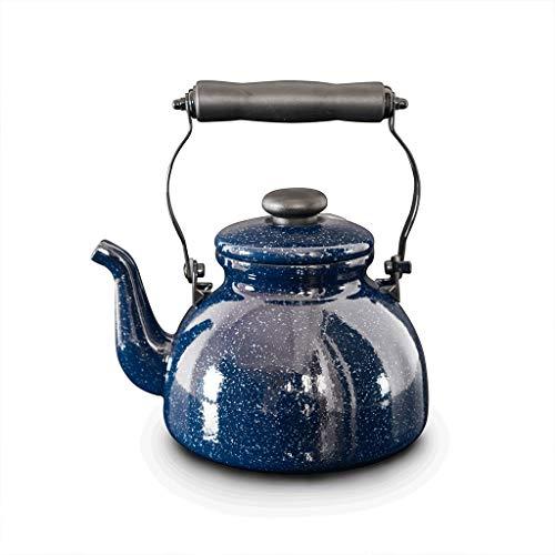 FYJK Enamel Tea Kettle 2L Enamel Galaxy Starry Whistling Kettle Teapot Calling Pot Self-Speaking Pot Induction Cooker Gas General