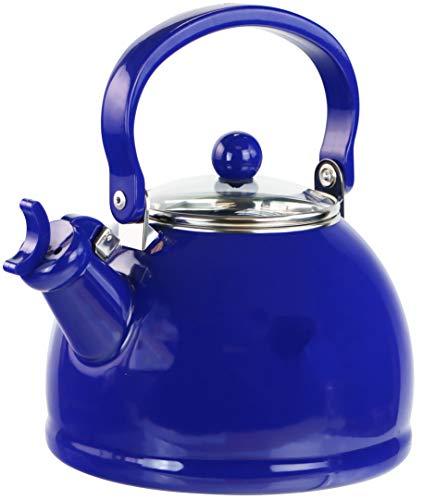 Reston Lloyd 60705 2 Quart Enamel Teakettle Whistling kettle Tea Pot Indigo