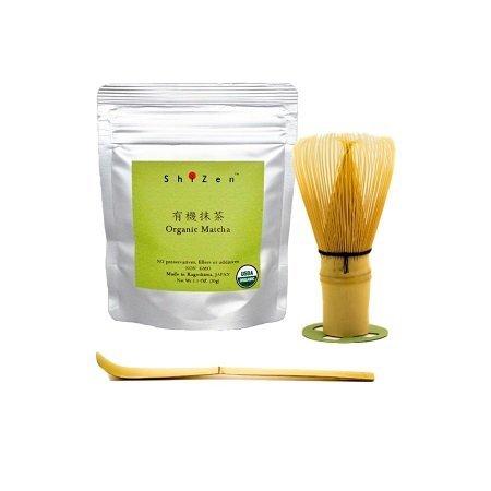 Organic Matcha Starter Kit from Japan Ceremonial Grade Organic Matcha Bamboo whisk bamboo scoop