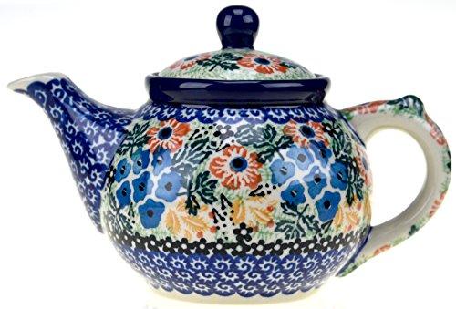 Ceramika Artystyczna Polish Hand Painted Small Teapot Wildflower Garden