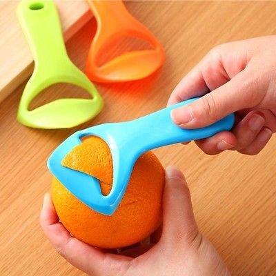 1 Pcs Citrus Orange Opener Peeler Slicer Cutter Plastic Lemon Fruit Skin Remover