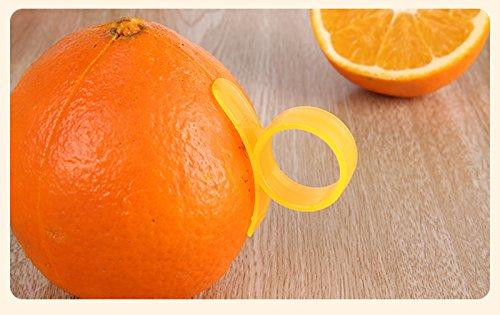 2 Pieces Orange Opener Peeler Cutter Plastic Lemon Fruit Skin Remover Slicer Parer Kitchen Tools