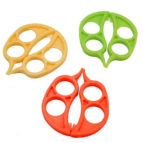 6 Pcs Orange Opener Peeler Slicer Cutter Plastic Lemon Citrus Fruit Skin Remover