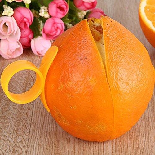 BangBang 2 Pieces Orange Opener Peeler Cutter Plastic Lemon Fruit Skin Remover Slicer Parer Kitchen Tools