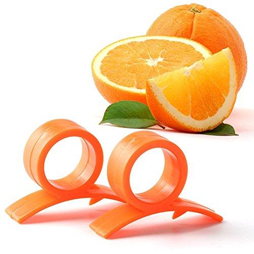 GoKrft Orange Lemon Peeler Plastic Skin Remover Round Slicer Cutter Orange Opener Peeler5pcs