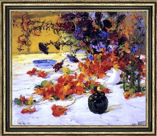 Jonas Lie The Black Teapot - 165 x 205 Framed Premium Canvas Print
