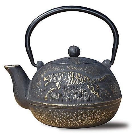 Old Dutch International Cast Iron Tora Teapot in Matte Black