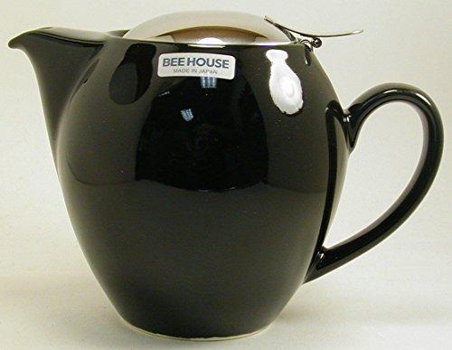 Round Black Teapot 22 Ounces