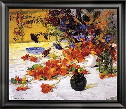 The Black Teapot by Jonas Lie - 20 x 25 Framed Premium Canvas Print