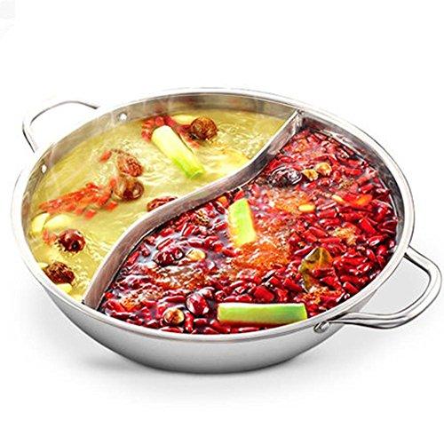 Shopline 28cm Stainless Steel Hot Pot Cookware Shabu Shabu Dual Site Induction Compatible
