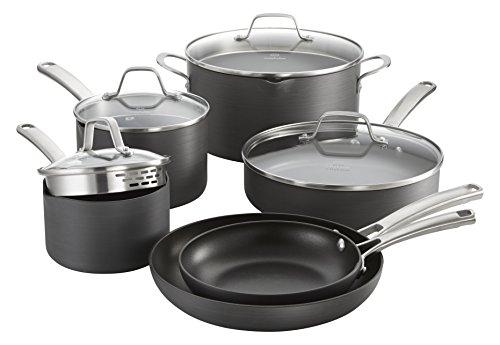 Calphalon Classic Nonstick Cookware Set 10-piece Grey 1945597