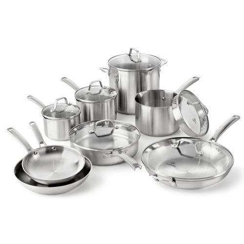 Calphalon Classic Stainless Steel Cookware Set 14-Piece