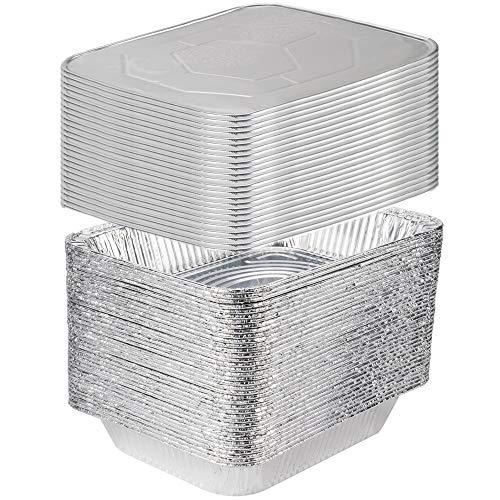 25 Sets 9 x 13 Aluminum Foil Steam Table Pans With Lids - Half Size Deep