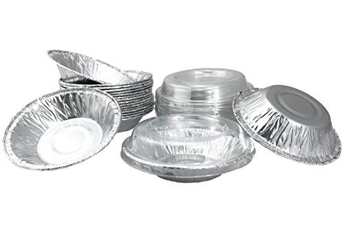 Aluminum Foil Mini Pie Pans 3-12 For PieTart Pans Mini Pot Pies And Pastries With Lids 20 Sets