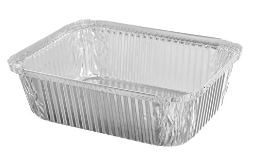 Sherri Lynne Home Premium Quality Durable 9 X 7 Aluminum Foil Pans 5 Lb Capacity With Board Lids 25 COUNT