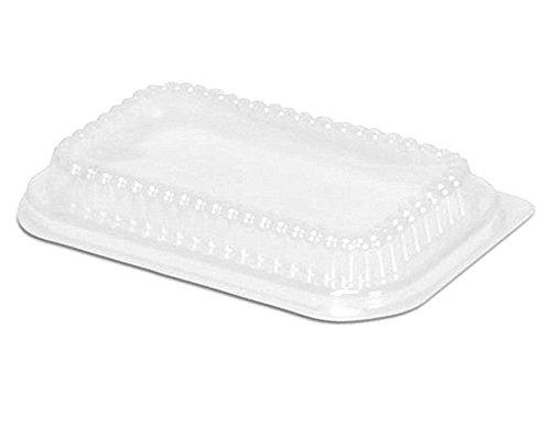 Handi-Foil Clear Plastic Dome Lid for 1 lb Aluminum Foil Loaf Pan pack of 50