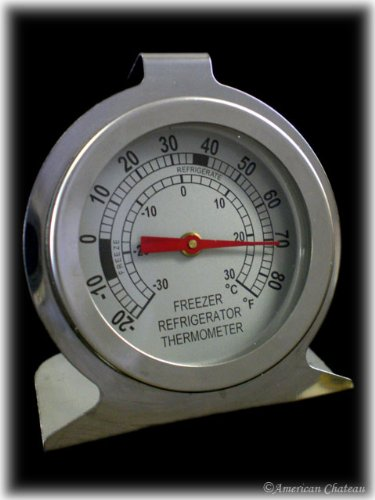 Stainless Steel Fridge Refrigerator Freezer Thermometer