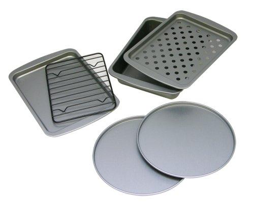 OvenStuff Non-Stick 6-Piece Toaster Oven Baking Pan Set