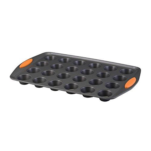 Rachael Ray Oven Lovin Non-Stick 24-Cup Mini Muffin Pan Orange