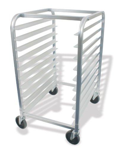Crestware ABPR10 10-Tier Aluminum Bun Pan Rack 26 by 20 by 38-Inch