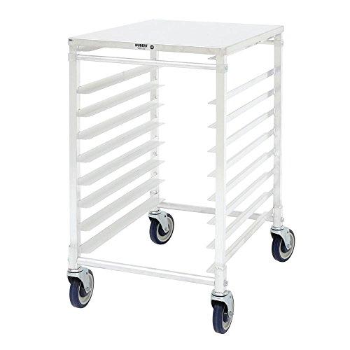 HUBERT Aluminum 9-Pan Bun Pan Rack With Top - 20 12L x 26W x 34H