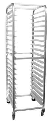 Magna Industries 4610E Standard-Duty Aluminum End-Load Bun Pan Rack with Stem Casters 20-12 Width x 70 Height x 26 Depth 20 Shelves