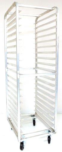 Magna Industries 4612E Standard-Duty Aluminum End-Load Bun Pan Rack with Plate Casters 20-12 Width x 70 Height x 26 Depth 20 Shelves