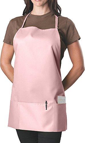 KNG Pack of 2 - Pink Adjustable Bib Apron - 3 Pocket