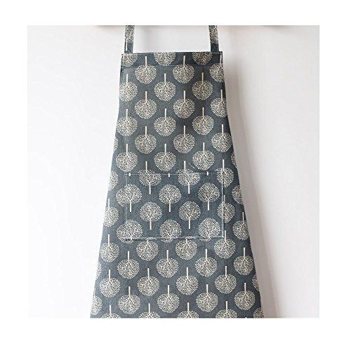 S Kaiko Retro Style Cotton Linen Apron for Women with Pockets Cooking Chef Apron Kitchen Apron Apron Bib Apron Restaurant Baking Apron BBQ Apron for Adult blue