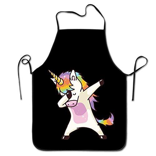 Hip Hop Unicorn Rainbow Personalized Aprons Professional Bib Apron For Women Men Girl Kids Gifts Kitchen Decorations