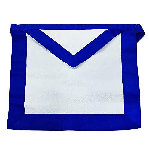 FunYan Masonic Leather Apron Blue Ribbon Borders