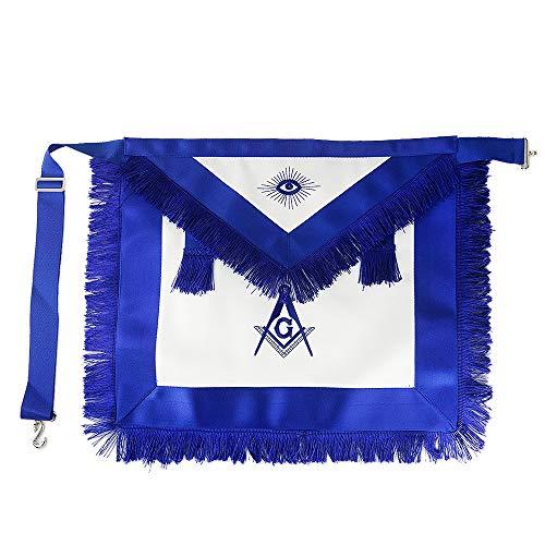 Master Mason Masonic Apron Blue Lodge Leather Square Compass for Freemason