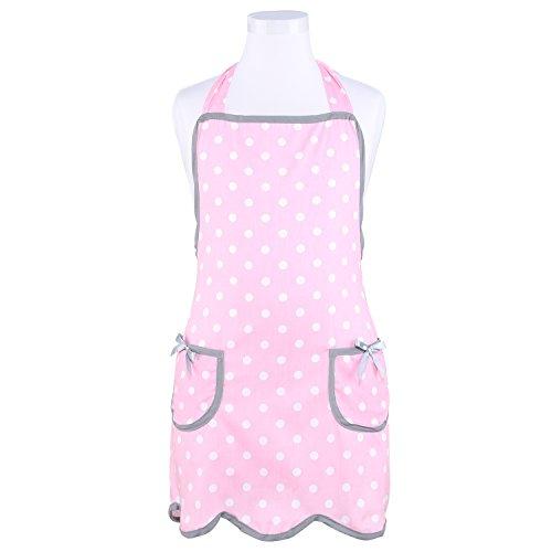 Neoviva Cotton Twill Garden Apron for Toddler Girls Style Wendy Polka Dot Pink