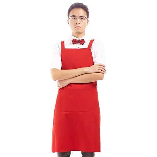 GXX canvas apron kitchen smock apronhousecoat-I