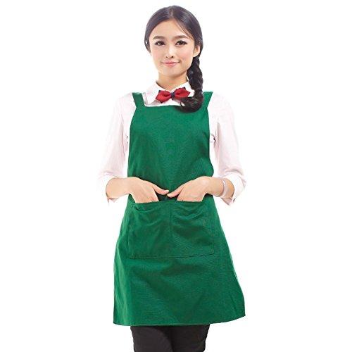 GXX canvas apron kitchen smock apronhousecoat-K