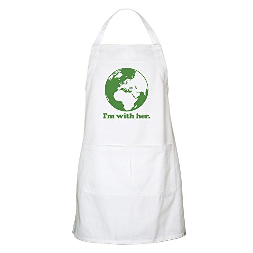 CafePress - Im With Her Green - Kitchen Apron with Pockets Grilling Apron Baking Apron