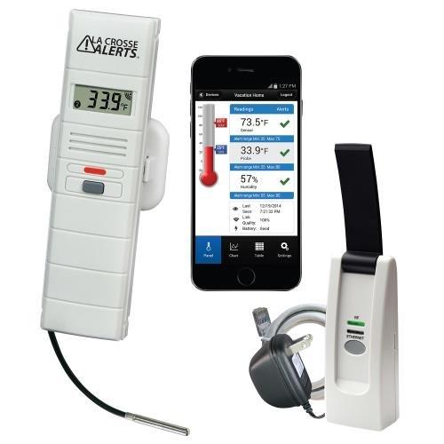 La Crosse Remote Greenhouse Temperature Humidity Monitor with Wet Temp Probe D111102E1BPWGH