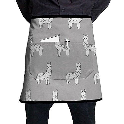 Funny Alpaca Lover Popular Apron For Men Women Cooking Baking Gardening Restaurant Bistro Craft Garden Apron With Pocket